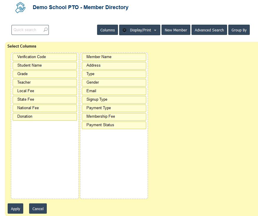 RunPTO Membership Directory