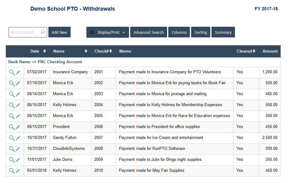 PTO Accounting Software - PTO Expenses