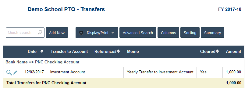 PTO Accounting Software - PTO Transfers