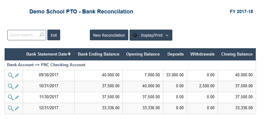 PTO Accounting Software - PTO Bank Reconcilation