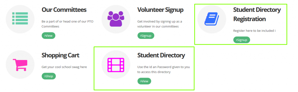 RunPTO Student Directory on a Website