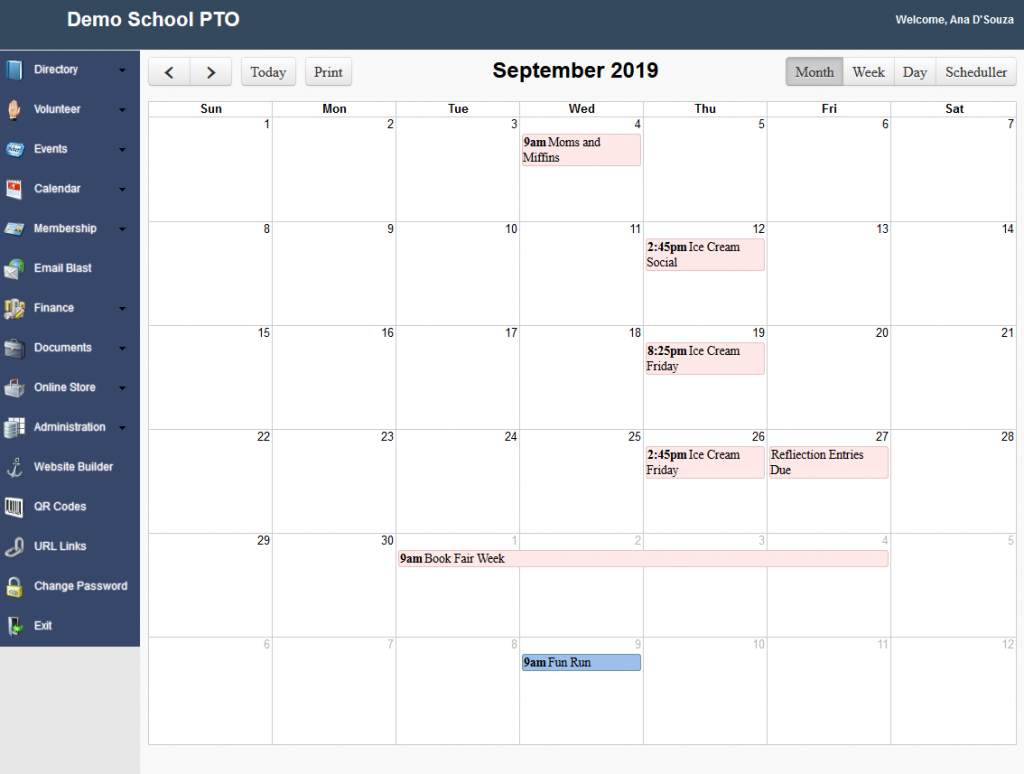 RunPTO Calendar Management