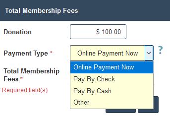 PTA Membership - Cash, Check or  Credit Card option