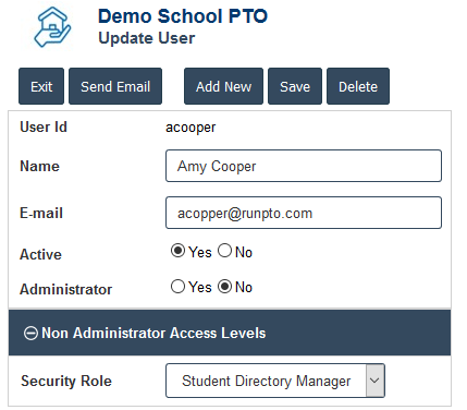 Student Directory Role Assignment