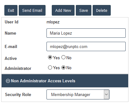 Membership Manager Role Assignment