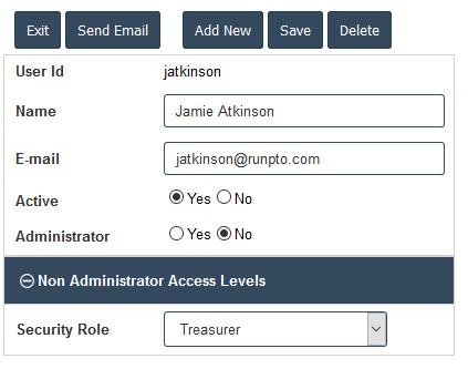 Treasurer Role Assignment